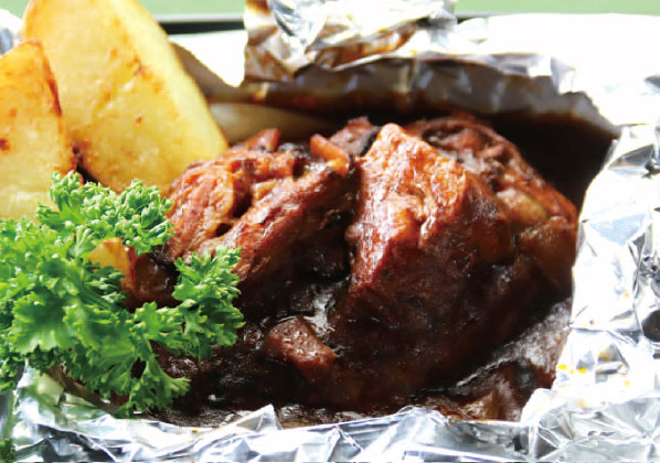 シトラス風ハンバーグステーキ